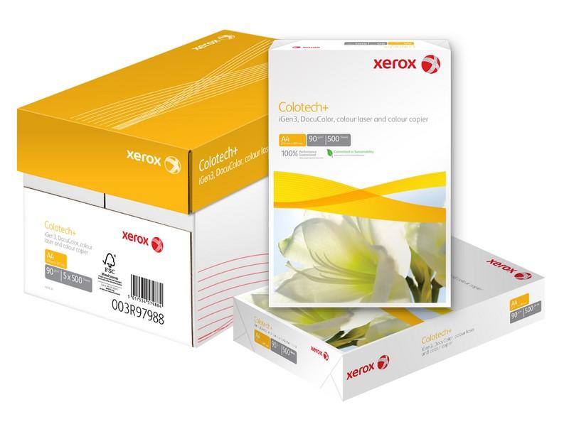 Какую бумагу выбрать для печати: xerox Colotech+ или Impressions?